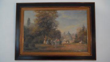 Wunderschönes, grosses Ölgemälde Herbert Isenberg, Schlossinventar