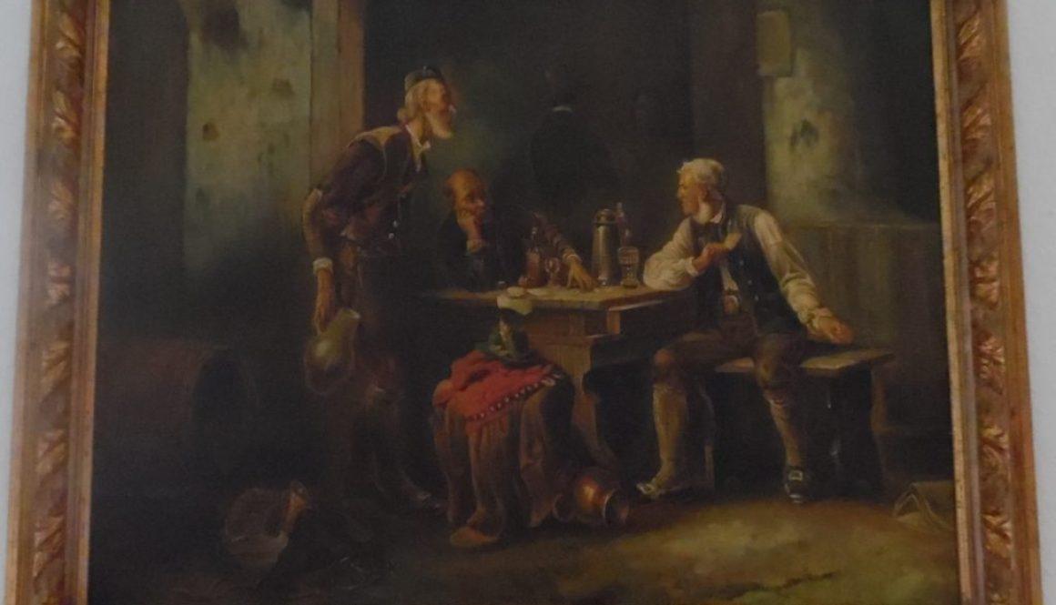 Ölgemälde wohl Anfang/mitte des 20 Jhd. im Stil des Barocks aufgemacht