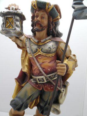 Große Holzfigur Skulptur Nachtwächter geschnitztes Meisterwerk