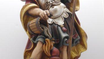 Holzfigur Skulptur Heiliger Florian / Feuerwehr handgeschnitzt