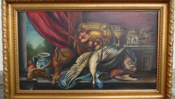 Grosses Ölgemälde 125 x 105 Stilleben Art Deco sign. verm. K. Seibel