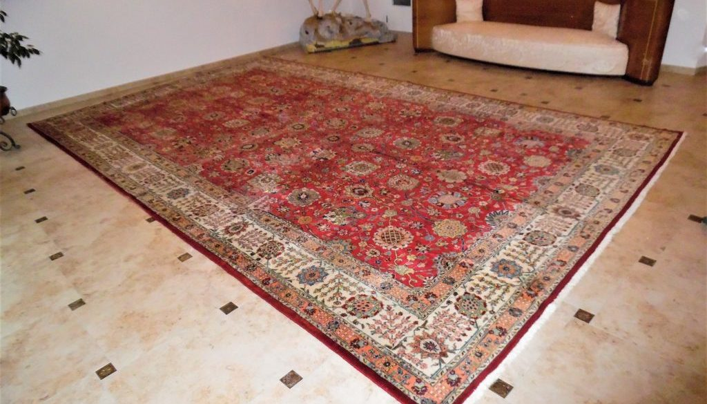 Großer XXL Palastteppich 570x335 Orient-, Perserteppich handgeknüpft
