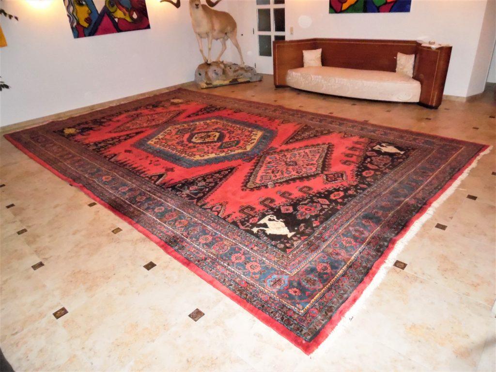 Großer XXL Palastteppich 585x345 Orient-, Perserteppich handgeknüpft